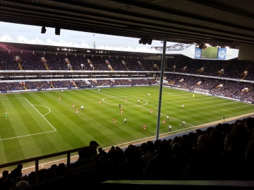 View from my seat at White Hart Lane