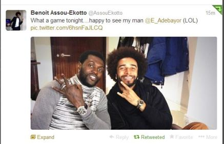 Assou-Ekotto Tweet 1