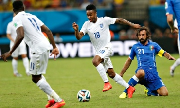 Raheem Sterling attacks Italy