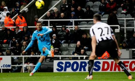 Chadli goal at Newcastle