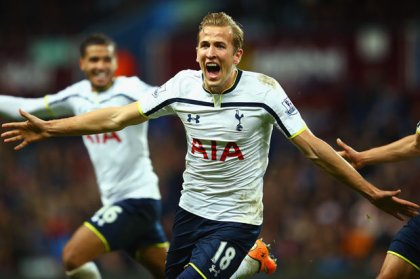 Kane celebrates against Villa