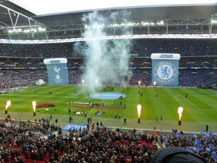 The League Cup final begins